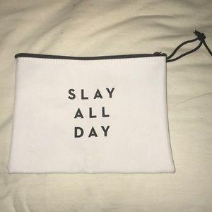 "Handbags - ""Slay All Day"" Large Cosmetics Bag"